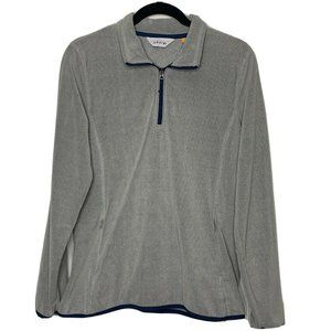 Orvis Light Gray 1/4 Zip Pullover Sweater Medium